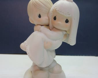 Precious Moments Bless You Two Bride & Groom Wedding Figurine