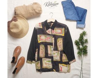 OVERSIZED SHIRT Vintage Oversized Printed Shirt
