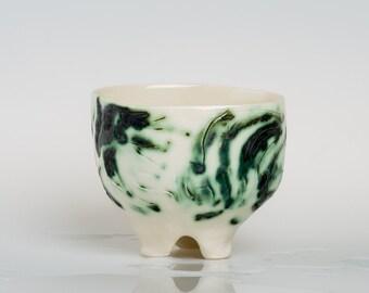 AZAMONA - Porcelain bowl, unique, handmade, OOAK