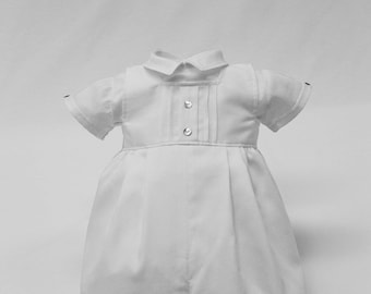 Baby Boys Christening Romper Outfit- Two Pieces