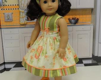 Peach Blossom - Dress for American Girl doll