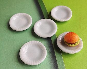 5 Miniature Plate,Miniature Tray,Miniature Ceramic Plate,Miniature Ceramic Tray Miniature food,Doll's House plate,Dolls House Tray,DIY