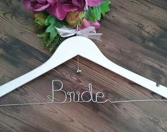 Bride Coat Hanger, wedding hanger; wedding hanger personalised; Bride gift; bride hanger; bridal coat hanger; custom wedding coat hanger;