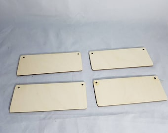 4 medium size rectangles birchwood ply crafts pyrographics with or without holes