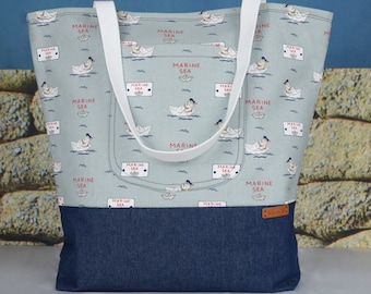 Large beach tote bag/summer tote/ holiday tote
