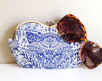 Indigo Tiger, a large sunglass case or small clutch