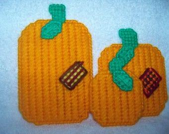 Plastic Canvas Pumpkin Patch ( 3 ) Magnets