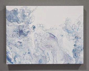 036 Acrylic Flow Painting 12x16 Heavy Duty Gallery Wrap Canvas