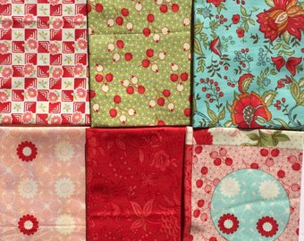 Bliss Bonnie and Camille moda fabrics 6 Fat Quarter Yard set Please Read