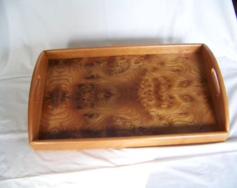 Handcrafted Wooden Cherry Serving Tray