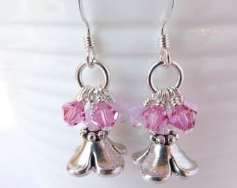 Pink Spring Flower Earrings; Cherry Blossom Earrings; Spring Earrings