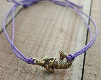 Mermaid Bracelet, Mermaid Jewelry, Be A Mermaid Gift, Mermaid Shower Favor, Mermaid Wish Bracelet, Mermaid Friendship Bracelet, Mermaid