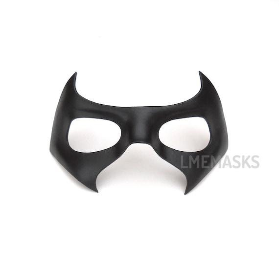 Robin Arkham Knight Leather Mask Nightwing Black Half Mask Red