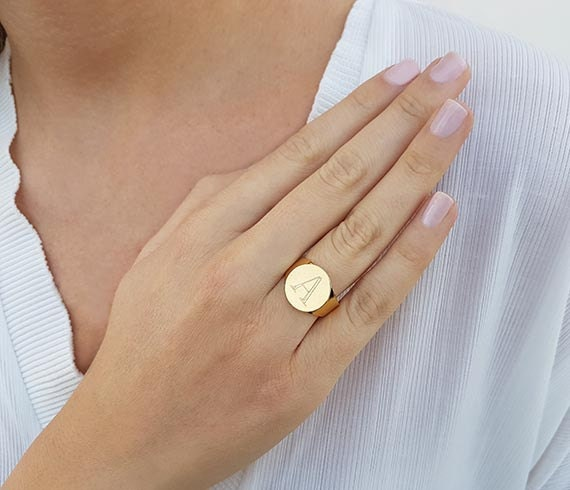 Brand-new Personalized rings Gold initial ring Gold ring Personalized UR49