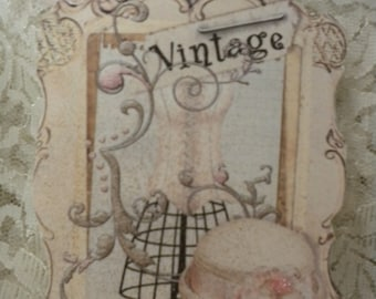 Shabby Chic Vintage Dress Form Tags (4)