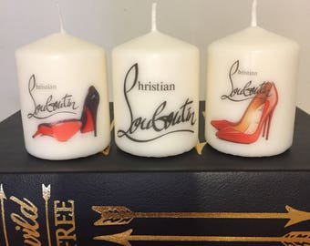 Christian Louboutin Inspired Candle Set