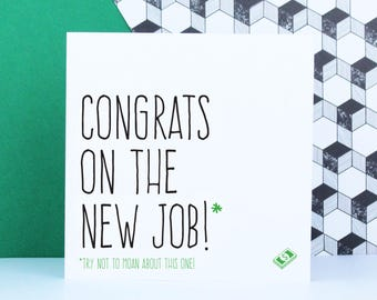 Funny congratulations new job card, Leaving card for co-worker, Coworker card, Goodbye card