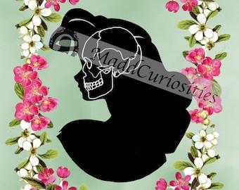 Disney Princess Skull Silhouette Ariel Print 4X6