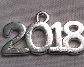 Metal 2018, 2017, 2016, 2015, 2014, or 2013 Charm (Charm Only)