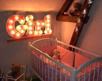"Sign light ""Girl"" Just a Spark"