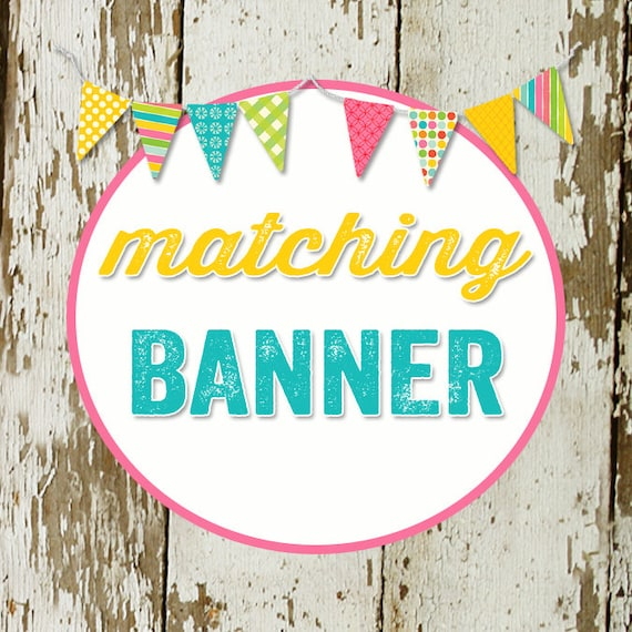 Custom order for Kate M- Banner and print