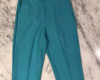 Alfred Dunner High Waisted Turquoise Slacks