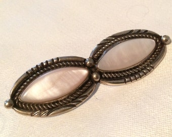 Vintage Brooch, Sterling and Mother-of-Pearl