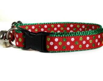 Christmas Cat Collar / Sparkle Cat Collar / Christmas Kitten Collar / Red Cat Collar / Breakaway Cat Collar / Dog Collar / Puppy Collars