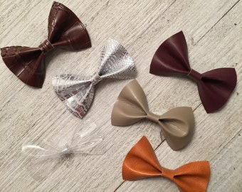 Leather & felt bows