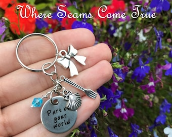 The Little Mermaid Quote Keychain (Part of Your World)