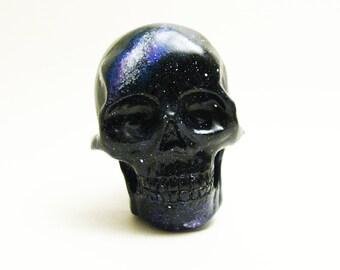 galaxy skull brooch / magnet handmade