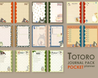 Totoro ... Journal set for POCKET planner