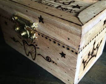 Custom Made to Order tooth fairy trinket treasure box