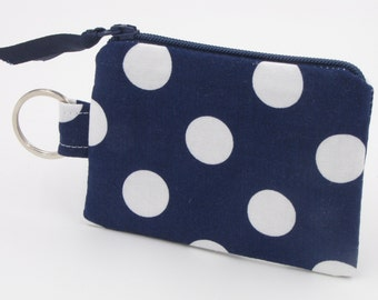 Small Change Pouch, iPhone Earbud Holder, Keychain Pouch, Pacifier Case, Chapstick Holder