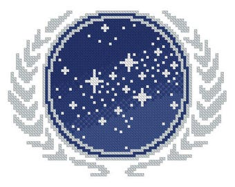 cross stitch pattern The United Federation of Planets