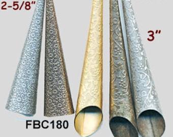 """UNUSUAL 3"""" BEAD CAPS Cones Flat Edge or Slanted - One Cone"""