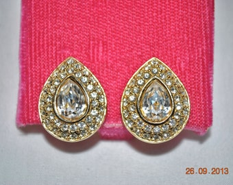 Napier Clip Rhinestone Earring