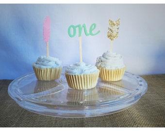 tribal cupcake toppers - tribal cupcakes - tribal cup cake toppers - cupcake toppers - tribal party - aztec cupcake - arrow cupcake topper