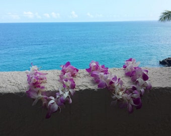 Hawaiian Lei Photo, Kona, Hawaii, Resort Balcony Digital Download