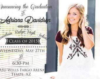 Customized Photo Graduation Annoucement
