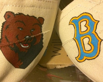 Custom UCLA college / school themed Toms shoes