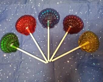 Shell lollipops - 1 dozen