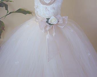 New !! Sweet Elegant Butterfly Flower Girl Dress