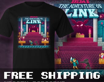 The Link Adventure of Zelda, Too  T-Shirt Mens & Ladies * Free Shipping * Great Gamer Gift