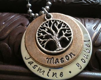 Hand Stamped Jewelry Inspirational Mothers Necklace Pendant