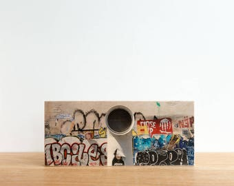 Street Art, Graffiti Photography, Photo Art Block, Image Transfer on wood, 'Paris Graffiti' by Patrick Lajoie, Paris street art, france