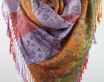 Pashmina Scarf Shawl Paisley Cowl Scarf Fall Winter Scarf Accessories  Gift     For Wife Gift For Women Gift For Her  Women Scarf
