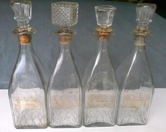 Vintage 1950's Liquor Decanter set