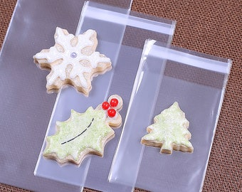 Small Sugar Cookie Bags, Lip-Seal Cellophane Bags, Cello Bags, Cookie Packaging, Candy Bags, Sweet Bags, Cookie Making, Wedding Favor Bags