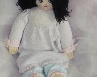 large knitted doll 86cm tall